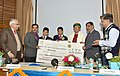 Arjun Ram Meghwal presenting the awards for an All India Quiz Competition on Water for Students of Class 6-8, at a function, organised by the Central Water Commission, in New Delhi.jpg