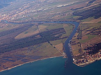 Province of Pisa - Mouth of the Arno River.