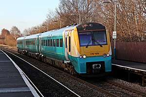 Arriva Trains Wales Class 175, 175109, Shotton Low Level railway station (geograph 3800345).jpg