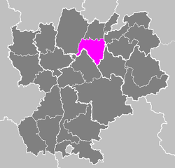 Location of Belley in Rhône-Alpes