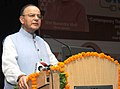 Arun Jaitley addressing at the inauguration of the Teachers' Workshop, organised by the Office of the Chief Economic Adviser, Ministry of Finance in collaboration with the Ministry of HRD, in New Delhi.jpg
