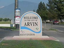 "&lt!-- ""Welcome to Arvin"" sign -->"