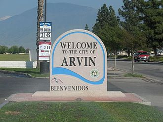 """Arvin, California - """"Welcome to Arvin"""" sign"""
