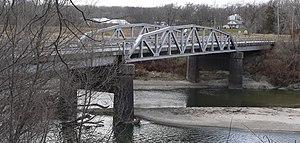 National Register of Historic Places listings in Saunders County, Nebraska - Image: Ashland bridge from NE