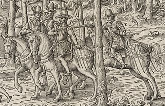 Siege of Orleans (1563) - Assassination of the Duke of Guise, 18 Feb 1563. Engraving by Tortorel and Perrissin.