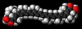 Astaxanthin - Image: Astaxanthin 3D spacefill