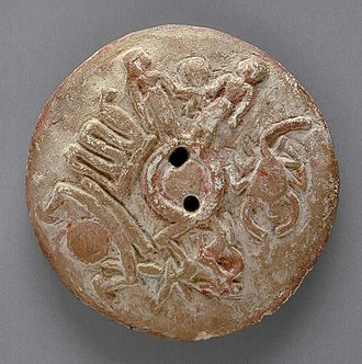 Egyptian astronomy - An Egyptian 30th-dynasty (Ptolemaic) terracotta astrological disc at the Los Angeles County Museum of Art.