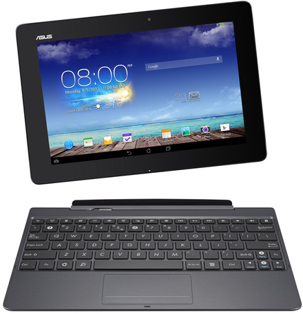 Asus Transformer Pad, a 2-in-1 detachable tablet, powered by the Android operating system Asus Transformer Pad TF701T Tablet and Keyboard Dock.png