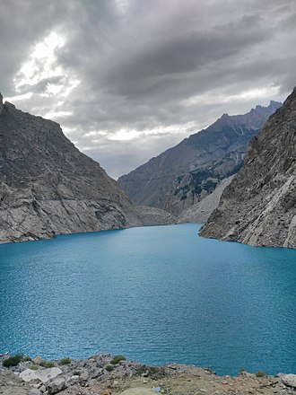 Attabad Lake - Lake ata'abad near Gilgit, Pakistan.