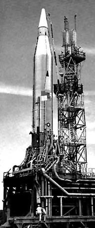 SM-65 Atlas - Atlas C missile sitting on its launch pad, 1957/58