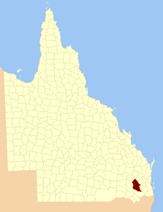 County of Aubigny - Location within Queensland