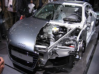 Cutaway (industrial) - Image: Audi R8 cutaway (2305471884)