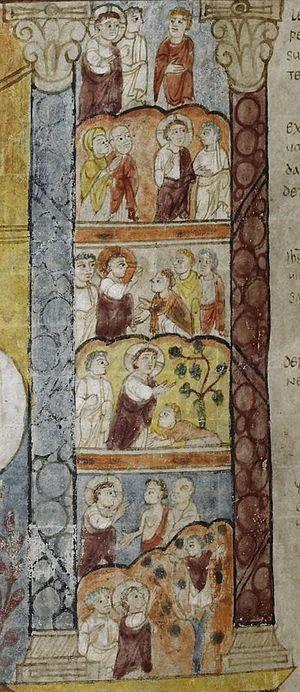 St Augustine Gospels - Right-hand scenes