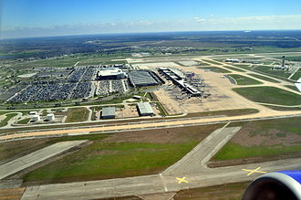 Austin–Bergstrom International Airport - Image: Austin Bergstrom International Airport aerial 01