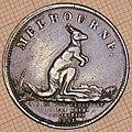 Australian Halfpenny Token Melbourne 1851 - obverse.jpg