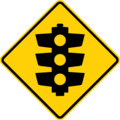 Australian traffic lights ahead sign.png