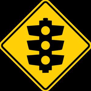 Maroondah Highway - Image: Australian traffic lights ahead sign