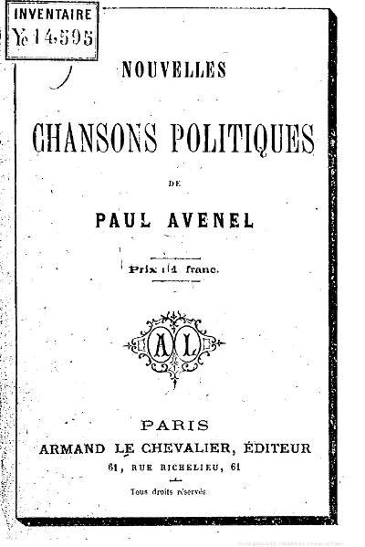File:Avenel - Nouvelles chansons politiques, 1870.djvu