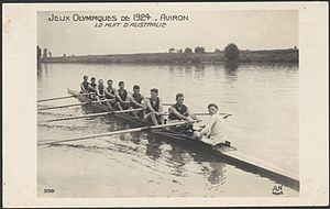 Australia at the 1924 Summer Olympics - The Australian eight in Paris