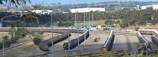 Avon Yard railway yard west of Northam, Western Australia