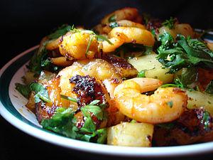 Shrimp and prawn as food - Image: Awadhi prawns