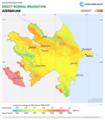 Azerbaijan DNI Solar-resource-map GlobalSolarAtlas World-Bank-Esmap-Solargis.png