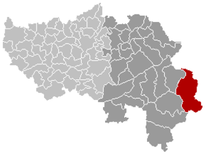 Büllingen - Image: Büllingen Liège Belgium Map