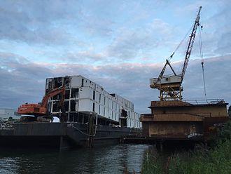 Google barges - BAL0010 being demolished in Seattle, Washington, May 2016