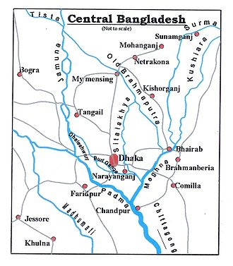 Buriganga River - Image: BD Map Central Bangladesh