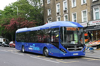 Volvo 7900 - First Berkshire & The Thames Valley on Kensington High Street in May 2014
