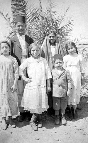 Armenians in Iraq - Armenian children in Baghdad, 1918