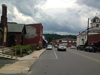 Bakersville, North Carolina - North Mitchell Ave in downtown Bakersville