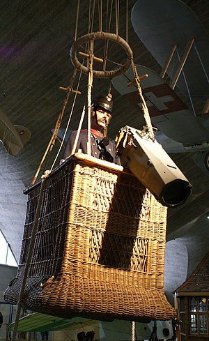 Switzerland during the World Wars - Replica of a balloon observer of the Swiss Army in World War I