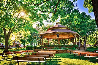 Lake Mills, Wisconsin - Franklin Else Bandstand in Commons Park