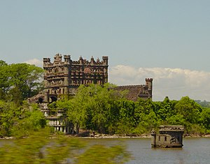 Pollepel Island - View from the railroad on the eastern bank of the Hudson River