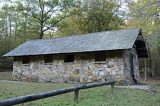 National Register of Historic Places listings in Polk County, Arkansas - Image: Bard Springs Bathhouse