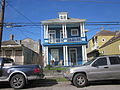 Baronne Central City NOLA Jan 2012 Blue Victorian Porch.JPG