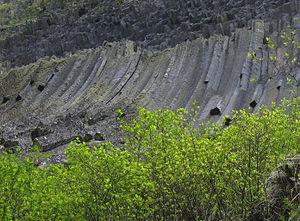 Metaliferi Mountains - Detunata goala, one of the two Detunatele columnar jointing formations of basalt