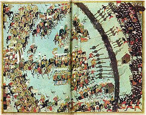 Battle of Keresztes - Battle of Keresztes, Ottoman miniature.
