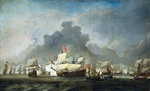Battle of Solebay june 7 1672 - De Ruyter against the Duke of York (Willem van de Velde II, 1691).jpg
