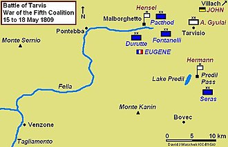 Battle of Tarvis (1809) - Battle of Tarvis and the storming of the Malborghetto and Predil Forts, 15–18 May 1809