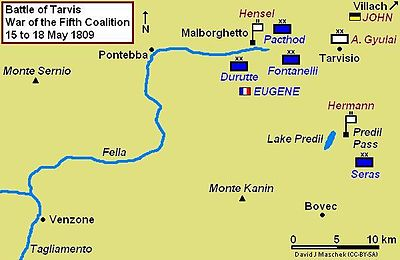 Battle of Tarvis and the storming of the Malborghetto and Predil Forts, 15–18 May 1809
