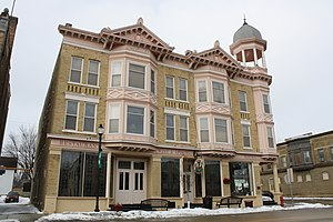 National Register of Historic Places listings in Dodge County, Wisconsin - Image: Beaumont Hotel Mayville Wisconsin WIS67WIS28
