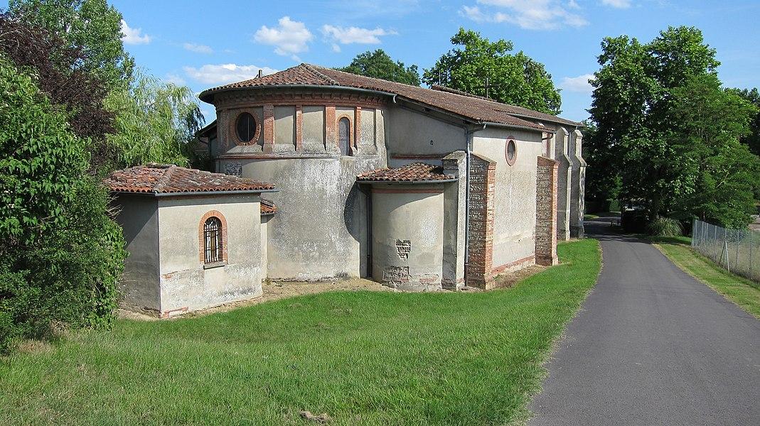 Beaupuy (Haute-Garonne, Midi-Pyrénées, France): L'église.