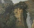 Begroeide rotsen met een waterval in Italië, misschien bij Tivoli Rijksmuseum SK-C-1524.jpeg
