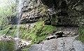 Behind Henrhyd waterfall - geograph.org.uk - 408858.jpg