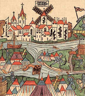 Burgundian Wars - Image: Belagerung von Neuss 1474 1475 Conradius Pfettisheim