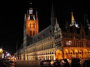 Belgie ieper lakenhal nacht