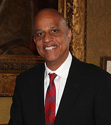 Belizean Prime Minister, Dean Barrow in London, 27 June 2013 (cropped).jpg