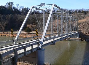 National Register of Historic Places listings in Cherry County, Nebraska - Image: Bell Bridge (Niobrara River) 2
